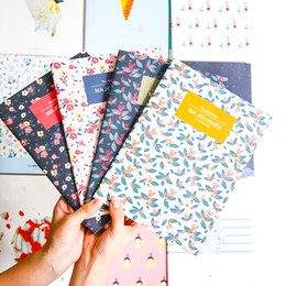 Wholesale Fitted Sheet Patterns - Wholesale- New Style Floral Pattern Creative Vintage 16K Notebook Writing Notebook School Stationery Diary Composition Book Stationery PL