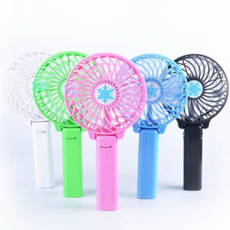 Wholesale Personal Electric Fans - 2016 hot selling Foldable Hand Fans Battery Operated Rechargeable Handheld Mini Fan Electric Personal Fans Hand Bar Desktop Fan