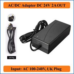 jacks dc Rebajas 24V 2A Reino Unido Enchufe AC Adaptador DC universal AC110V-240V AC-DC 24 V Cargador de alimentación para LED Strip Light CCTV cámara UK Jack