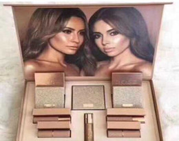 Wholesale Easy X - Makeup Set Dose of colors Desi X Katy Set THE GIRLS eyeshadow palette from the Collection 4 color eyeshadow highlighter Lipstick Lipgloss