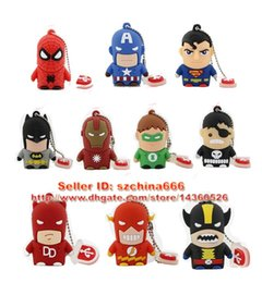 Wholesale Usb Pendrive - 10 Warriors Hero SpiderMan Superman Batman Ironman 1GB 2GB 4GB 8GB 16GB Pendrive Pen Drive USB Flash Drive