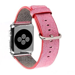 Wholesale French Weaving - 2016 New Arrvial For Apple Watch Band Woven Nylon Band of Layers Wrist Bracelet Strap Watchband Metal Classic Buckle With Adapter OTH212