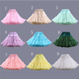 Wholesale Bridal Crinoline Plus Size - Colorful Short Cheap Crinoline Petticoats Ruffles Bridal Petticoats Wedding Dresses Girls Underskirt Plus Size Petticoats Fast Shipping