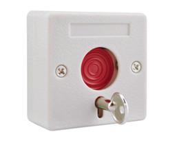 Commutateur nc en Ligne-Petite alarme NC / NO options bouton de panique interrupteur en plastique utiliser pour le système d'alarme d'urgence swtich feu bouton d'urgence emer