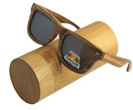 Wholesale Handmade Wooden Eyeglass Frames - 2016 New hot seller wood Sunglasses Handmade Bamboo classical men Eyewear Eyeglasses with polarized lens