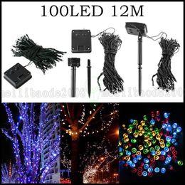 Wholesale Solar Led 12m - LLWA300 100 LED 12M Solar Powered Fairy String Lights Garden Christmas Outdoor Indoor