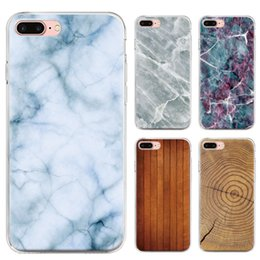 Wholesale print wholesale - New cell mobile phone case for Iphone X 8 7 6S plus TPU bling laser printing marble bamboo wooden design soft silicone case back cover
