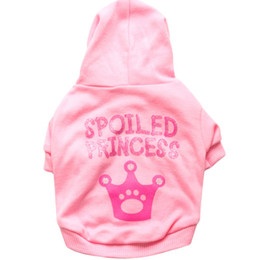 Wholesale Princess Apparel - New Arrival Spoiled Princess Puppy Dog Warm Hoodies Coat Pet Sweater T shirt Apparel for Sale Fast Free Shipping