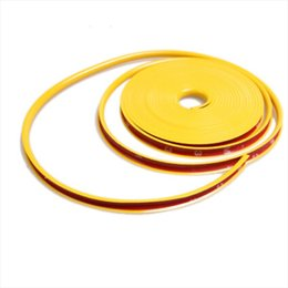 Wholesale Motorcycle Hub - Exterior Accessories Stickers 8 M Motorcycle Wheel Hub Tire Sticker Car Decorative Strip Wheel Rim Protection Care Covers Car Accessories