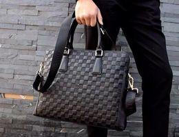 Wholesale Mens Designer Leather Handbags - 2018 New Brand Name Laptop Bag High Quality Branded Briefcase Genuine Leather Mens Bags Men Bag Designer Mens Handbag Business bag 0114-1