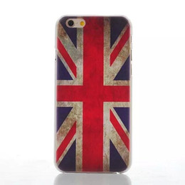 Wholesale Uk Iphone Case - UK US Flag Anchor flower effiel tower tearful eye Hard Case Back Cover For iPhone 5 6 6 Plus Phone Cases