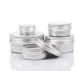 Lippentöpfe online-Leere Aluminium Cremetopf Dose 5 10 15 30 50 100g Kosmetische Lippenbalsam Behälter Nagel Derocation Handwerk Topf Flasche
