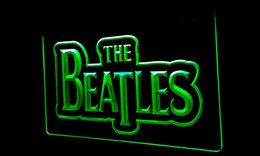 Bande di segno al neon online-LS082-g The Beatles Band Music Logo Bar luce al neon