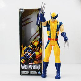Wholesale Good Moves - Super Hero 12inch 30cm Wolverine Moving of the limbs PVC Action Figure Collectible Model Toy Hot sale free shipping
