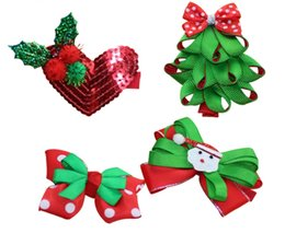 Wholesale Apple Tree Girl - Girls Christmas apple Headband Xmas Tree Hairpin Barrettes Headbow Best Christmas Gifts for Baby Tolders Girls