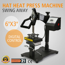 "Wholesale Sublimation Machines - Digital Swing Away Hat Ball Cap Heat Press Transfer Sublimation Machine Curved Element (6"" x 3"")"