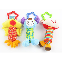 Wholesale First Baby Toy - New Baby Toys Rattle My First Tinkle Trio Hand Bell Multifunctional Plush Toy Stroller Mobile Gifts WJ148