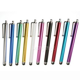 Wholesale Ipad Stylus Clip - 2016 Hot arrival Capacitive screen Metal stylus touch pen with clip for iphone3G 3GS 4 4S 5 5s 6 6plus  ipad mini iPad iPod touch