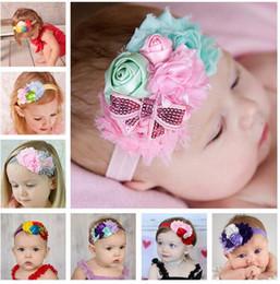 2019 arco dei capelli della piuma di struzzo Bambini Baby Hairbands Archi Principali fasce per capelli Accessori per capelli per bambini Ragazze Cute Bow Fasce per capelli Articoli per capelli Accessori per bambini HK86