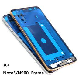 10pcs / lot para Samsung Galaxy Note3 Note 3 N900A N900T Marco LCD Carcasa frontal Marco medio Bisel Placa + Botón de inicio, (plata) desde fabricantes