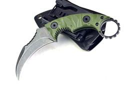 Когтевой нож d2 онлайн-60HRC D2 Коготь нож olecranon открытый выживания кемпинг охотничий нож складной нож BENC 1 шт. Бесплатная доставка