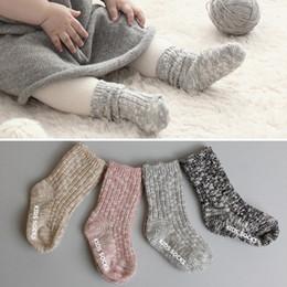Wholesale Thick Warm Socks - 2016 Winter Warm Baby Kids Bodkin Autumn And Winter Thick Wool Flower Yarn Children Socks Baby Slip Socks