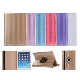 Wholesale Bling Ipad Mini - New Luxury Colorful Bling Flip Stand PU Leather Case Smart Cover For iPad 2 3 4 5 6 7 Air Air2 Mini Mini4 Pro 9.7 inch