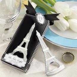 Wholesale Tour Eiffel Party - Hot Sale Gift La Tour Eiffel Tower Chrome can beer Bottle Opener Party Favor LZ0045