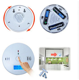 Wholesale Carbon Monoxide Gas Detector - New CO Detector & LCD Sensor Warning CO Carbon Monoxide Poisoning smoke Gas Alarm Detector Tester LCD Hot New