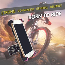 Wholesale Universal Motorcycle Handlebars - Hight Quality Holder Phone Adjustable Bike Bicycle Motorcycle Handlebar Mount Holder Phone GPS Smartphones Holder Convenience To Use
