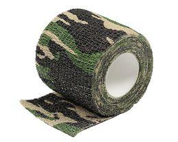 Wholesale Camouflage Adhesive Tape - Airsoft Tactical 4.5M Camo Stretch Bandage Adhesive Elastic Multifunctional Camouflage Tape Paintball Bandage Camping Kits