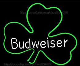 2019 ирландские таблички Budweiser ирландский виски трилистник неоновая вывеска дискотека КТВ дисплей ручной работы реальная стеклянная трубка неоновый свет знак пивной бар знак Неоновый пиво знак 24
