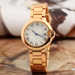 Wholesale Best Style For Men - 2017 New Luxury Watch Lover Women Men watches Ballon Style Stainless steel Band brand Quartz Wristwatch for Boy Lady relojes Best Gift