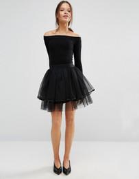 Wholesale Custom Measurements - Black Short Length tutu tulle skirt, cheap fatory sale , Party Prom Women Tullle hot popular custom design custom color and measurement