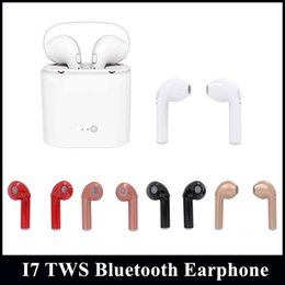Wholesale Iphone Headphones Sale - 1pc Sale TWS I7S Twins Earbud Mini Bluetooth Headphones With Charging Box Wireless Invisible Stereo Earphone For Iphone 8