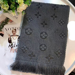 Wholesale Pashmina Brand Scarves - New arrival Warm famous Brand designer Winter LOGO Scarf Women Wool Scarf Fashion Women men Designer Warm Scarves new fashion