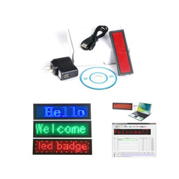 Wholesale Advertising Cards - LED scrolling name badge club programmable card Mini display rechargable led name card tag advertising display board