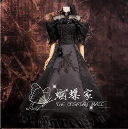 Vocaloid weihnachtskostüme online-Kostenloser Versand Anime Vocaloid Cosplay Miku cps schwarz Kleid Loro Rita Mädchen Kostüm Halloween-Kostüm für Frauen für Party / Weihnachten