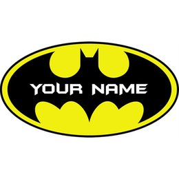 Wholesale Decal Stickers Personalised - Nolvety Customer-made Personalised Name Bat Wall Art Stickers Girls Kids Bedroom Wall Decals Art Home Decor WS318