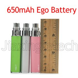 Wholesale Ce5 Vs Ego T - Jiaxingle Factory offer 510 Ego T Battery 650mah For Electronic Cigarette Match Ce4 Ce5 MT3 Atomizer VS X6 Evod dry herb ecig battery