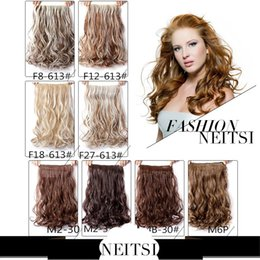 "Wholesale Clip Hair Extensions Kanekalon - Neitsi 1PC 110g 22"" 5 Clips Ombre Synthetic Kanekalon Braiding Ponytails Hairpieces Clip In On Hair Weave Extensions 8 Colors"