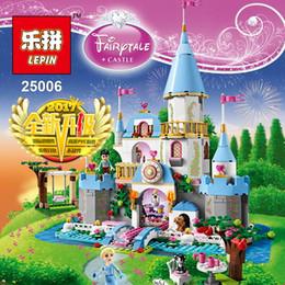 Wholesale Princess Blocks - Lepin 25006 697pcs Friend Princess Cinderella\'s Romantic Castle Girls Building Block Compatible 41055 Brick Toy