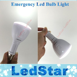 Wholesale Emergency Led E27 - Super Bright Rechargeable Emergency E27 LED Lamp 6W Portable Flashlight torch battery light bombillas AC 85-265V Free shipping