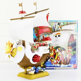Wholesale One Piece Sunny Pirate - One Piece Thousand Sunny Pirate ship Model PVC Action Figure Collectable Model Toy 40*27cm Free Shipping