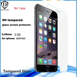 Wholesale Box For Iphone 4s - for iphone SE 4s 5s 0.26mm tempered glass protective screen protectors for iphone 6 6s 6 6s plus without retail box