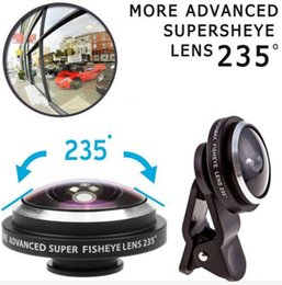 Wholesale S3 Lens - Universal mobile phone 235 Degree Super Fisheye Clip Lens for iPhone 6 5S 5 4S Samsung Galaxy S3 S4 S5 S6