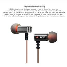 Wholesale High Hifi - KZ ED9 Hifi Dj Stereo IEM Headphones with Heavy Bass and Noise Isolating Standard Edition Headsets High Sensitivity HD Earphones