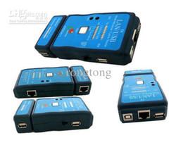 Wholesale Cat 45 Cable - 50pcs lot USB Cable Tester LAN Ethernet RJ-45 Cat-5 RJ-12 RJ-11 CABLE TEATER CAT5 RJ45 FREESHIPPING