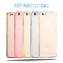 Wholesale Best Back Covers - 360 Degree Case Colorful Full Cover For iPhone 6s Samsung S7 edge TPU Front And Back Case Best Body Protector For iPhone
