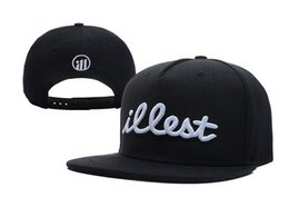 Wholesale Good Snapbacks - ILLEST Snapbacks Adjustable Hats Cool Headwears Durable Hats Black Caps Affordable Price Good Quality Mix Order 2016 New Arrival Discount